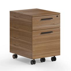 Linea Mobile File Cabinet in Natural Walnut