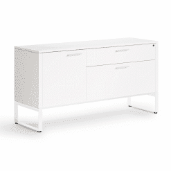 Linea Multifunctional Cabinet in Satin White Finish