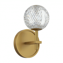 Marni Wall Sconce in Natural Brass