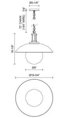 Oviatt Pendant Dimensions