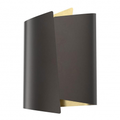 Parducci H Wall Sconce in Urban Bronze and Light Brass