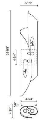 Parducci H Wall Sconce Dimensions