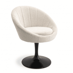 Pavillion Dining Chair in Boucle Cream