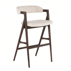Riddle Bar Stool in Shell Boucle