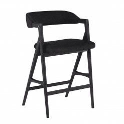 Riddle Counter Stool in Activated Charcoal