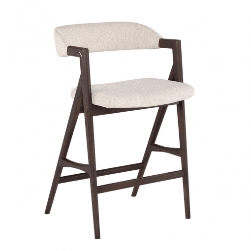 Riddle Counter Stool in Shell Boucle