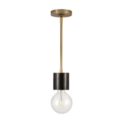 Rocco Pendant in Vintage Brass and Black Marble