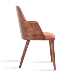 Romano Wood Dining Armchair in Cinnamon PPM FR Side