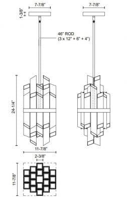Rowland W Pendant Dimensions