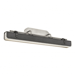 Valise W Wall Sconce in Aged Nickel and Tuxedo Leather