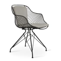Zebra Dining Chair in Black and Bone PPM FR