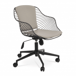 Zebra Office Chair in Black Wire Bone PPM FR Black Base