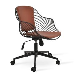 Zebra Office Chair in Black Wire Cinnamon PPM FR Black base